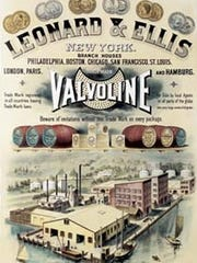 Broadside for Valvoline, 1870s.