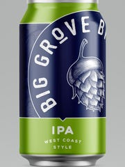 The design for a can of Big Grover Brewery's IPA that