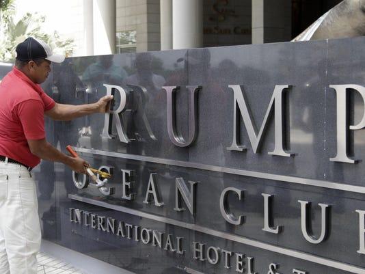 APTOPIX Panama Trump Hotel