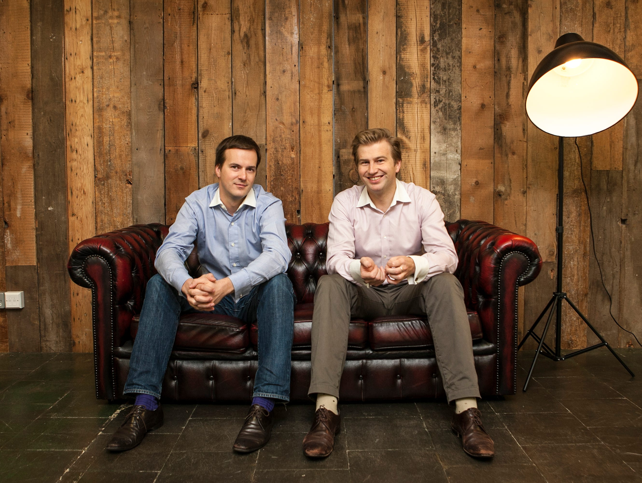 TransferWise founders Taavet Hinrikus, who was Skype's first employee, and his friend Kristo Kaarmann.