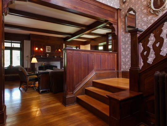 This Tudor with a classic Arts and Crafts interior