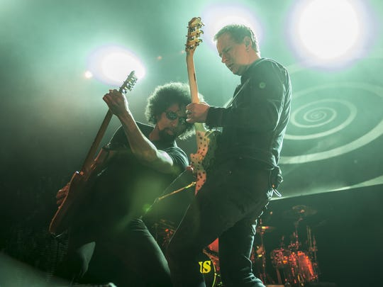 William DuVall and Jerry Cantrell  perform as Alice in Chains in 2013.