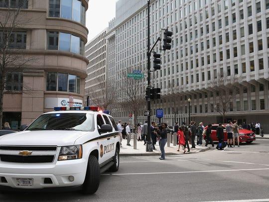 A U.S. Secret Service Uniform Division patrol vehicle