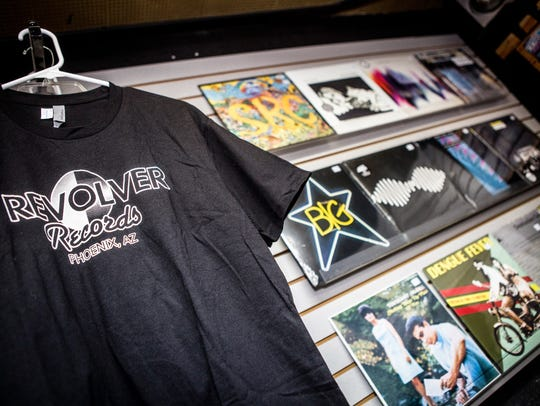 Merchandise at Revolver Records in Phoenix for Record
