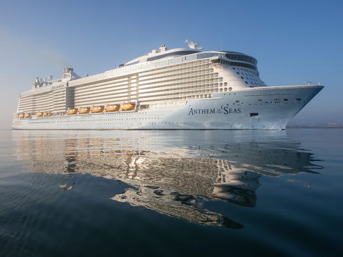 Royal Caribbean's Anthem of the Seas was christened