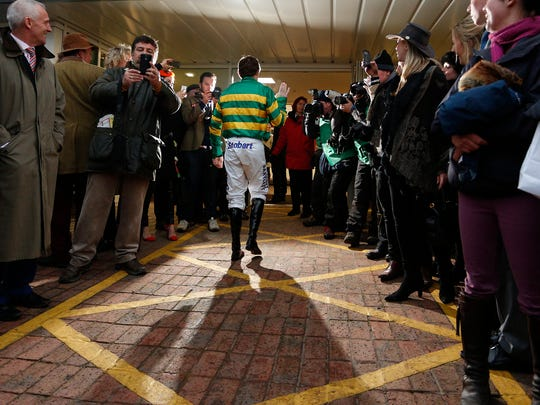 Tony McCoy after his last ride at Cheltenham before