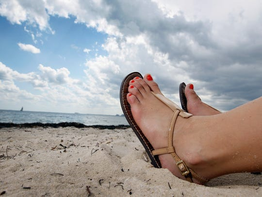 Don't forget to sunsceen your feet -- and to reapply