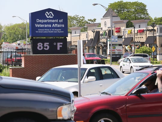 Traffic backs up as patients arrive for treatment at