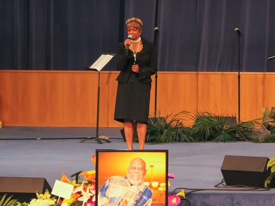 Vocalist Joan Belgrave, widow of Marcus Belgrave, performed
