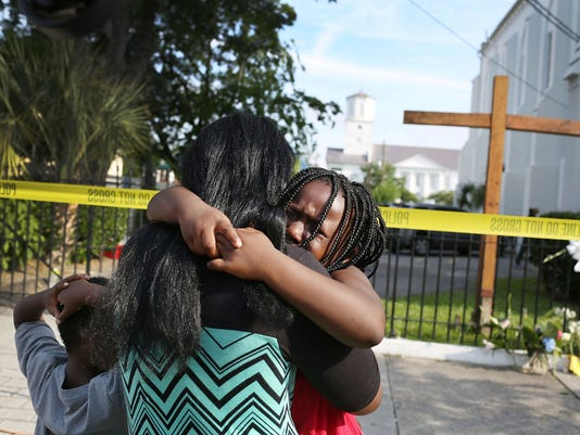 Outside Emanuel AME Church in Charleston
