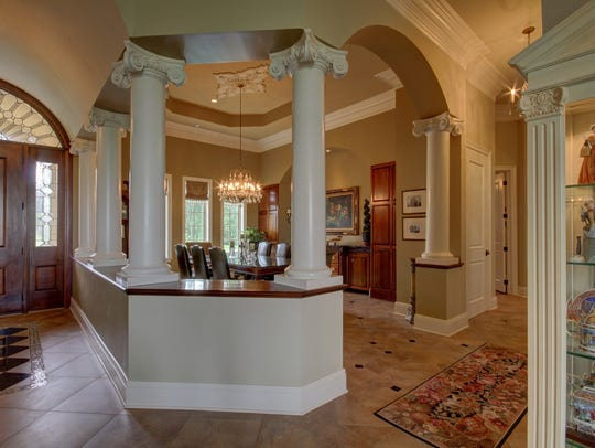 The grand foyer of the estate on Tiger Lane in Eunice.