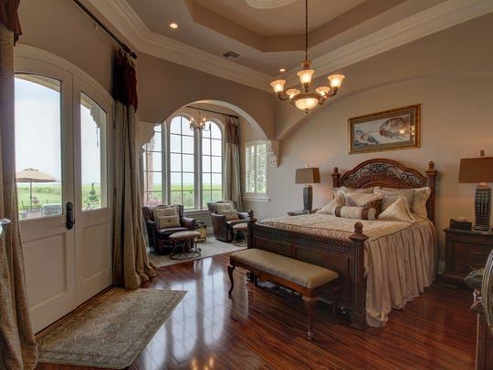 The beautiful master bedroom suite.