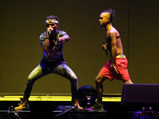 Rae Sremmurd at Barclays Center of Brooklyn on July 26, 2015 in New York City.