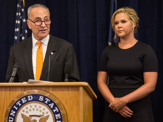 Amy Schumer and U.S. Senator Chuck Schumer