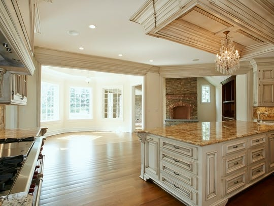Kitchen of the Harrison home being auctioned on Sept.