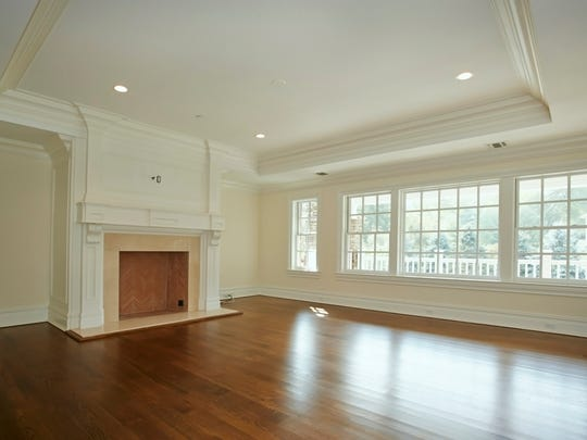 Living room of the Harrison home being auctioned on