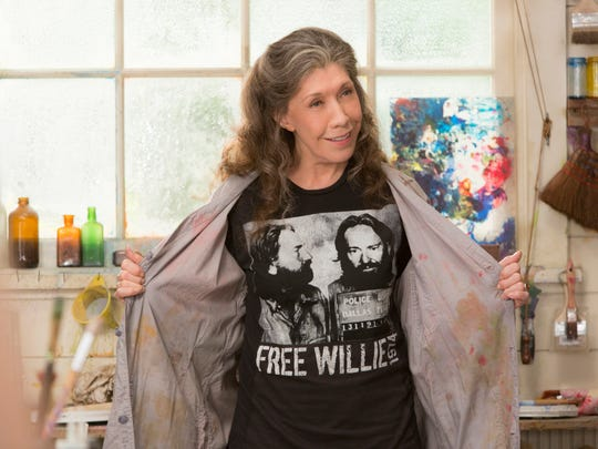"In this image released by Netflix, Lily Tomlin appears in a scene from ""Grace and Frankie."""