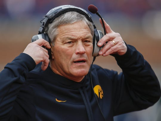Kirk Ferentz has coached Iowa to 12 bowl games in 17