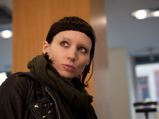 """Rooney Mara as Lisbeth Salander in """"The Girl with the"""