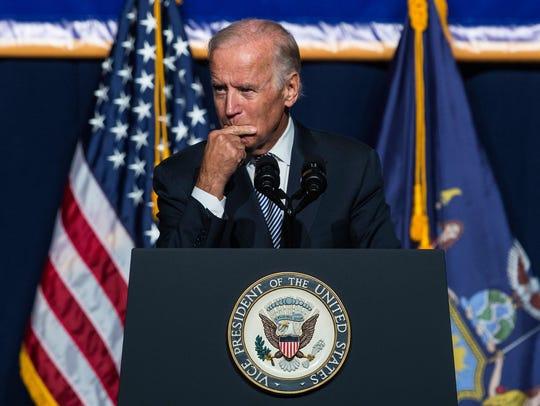 Vice President Biden speaks in New York on Sept. 10,