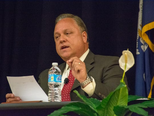 Dee Stanley participates in the first city-parish president