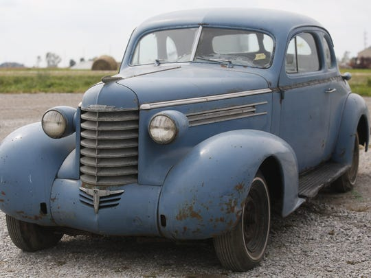 1937 Oldsmobile Coupe. Rare car collection of the late Grant J. Quam to be auctioned Sept. 26th in Ames, Iowa, Wednesday, Sept. 16, 2015.