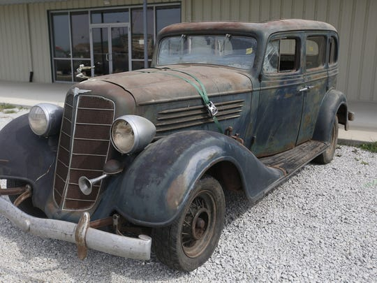 1934 Buick 4-door Suicide Sedan. Rare car collection of the late Grant J. Quam to be auctioned Sept. 26th in Ames, Iowa, Wednesday, Sept. 16, 2015.