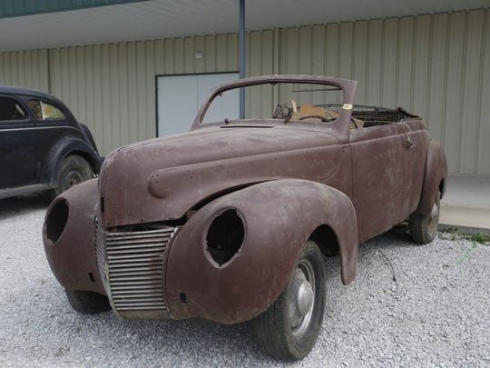 1939 Mercury Convertible. Rare car collection of the late Grant J. Quam to be auctioned Sept. 26th in Ames, Iowa, Wednesday, Sept. 16, 2015.