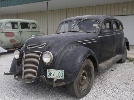 1937 Chrysler Air Flow 4-door Sedan. Rare car collection of the late Grant J. Quam to be auctioned Sept. 26th in Ames, Iowa, Wednesday, Sept. 16, 2015.