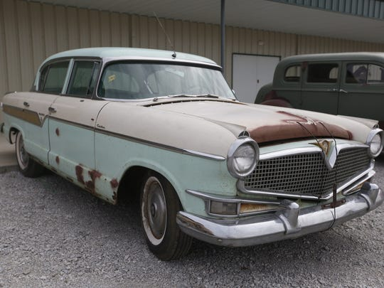 1956 Hudson Hornet 4-door Sedan. Rare car collection of the late Grant J. Quam to be auctioned Sept. 26th in Ames, Iowa, Wednesday, Sept. 16, 2015.