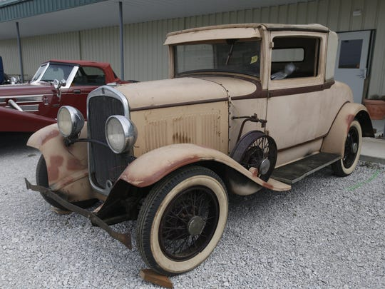 1929 Desoto Sport Coupe. Rare car collection of the late Grant J. Quam to be auctioned Sept. 26th in Ames, Iowa, Wednesday, Sept. 16, 2015.