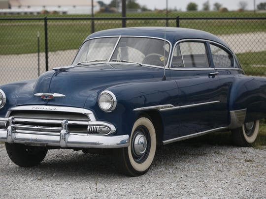 1951 Chevrolet Deluxe 2-door Sedan. Rare car collection of the late Grant J. Quam to be auctioned Sept. 26th in Ames, Iowa, Wednesday, Sept. 16, 2015.