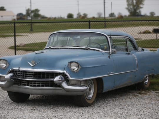 1955 Cadillac Eldorado Coupe Deville. Rare car collection of the late Grant J. Quam to be auctioned Sept. 26th in Ames, Iowa, Wednesday, Sept. 16, 2015.