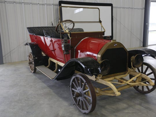 1912 Overland Model 51 4-door touring. Rare car collection of the late Grant J. Quam to be auctioned Sept. 26th in Ames, Iowa, Wednesday, Sept. 16, 2015.