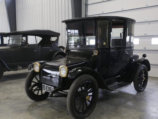 1922 Detroit Electric Model 90B Town Sedan. Rare car collection of the late Grant J. Quam to be auctioned Sept. 26th in Ames, Iowa, Wednesday, Sept. 16, 2015.