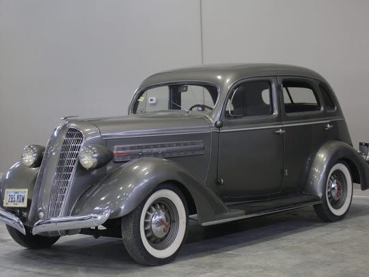 1936 Graham Super Charged 4-door Sedan. Rare car collection of the late Grant J. Quam to be auctioned Sept. 26th in Ames, Iowa, Wednesday, Sept. 16, 2015.