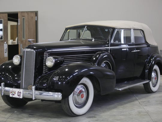 1937 LaSalle Sedan Covertible. Rare car collection of the late Grant J. Quam to be auctioned Sept. 26th in Ames, Iowa, Wednesday, Sept. 16, 2015.