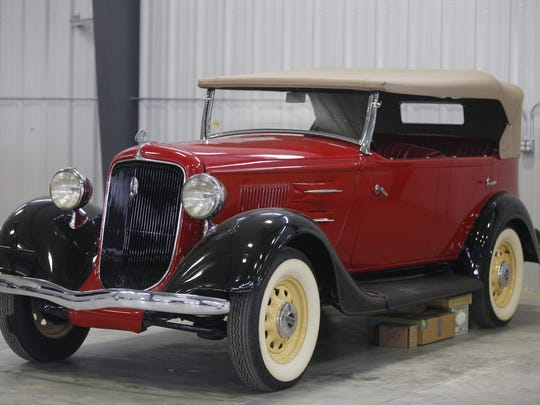 1934 Plymouth Phaeton-Touring. Rare car collection of the late Grant J. Quam to be auctioned Sept. 26th in Ames, Iowa, Wednesday, Sept. 16, 2015.