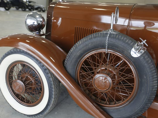 1929 Oldsmobile Landau 4-door Sedan. Rare car collection of the late Grant J. Quam to be auctioned Sept. 26th in Ames, Iowa, Wednesday, Sept. 16, 2015.