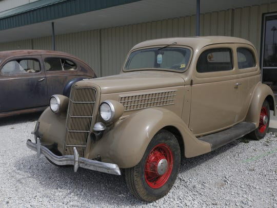 1935 Ford Tudor Sedan. Rare car collection of the late Grant J. Quam to be auctioned Sept. 26th in Ames, Iowa, Wednesday, Sept. 16, 2015.