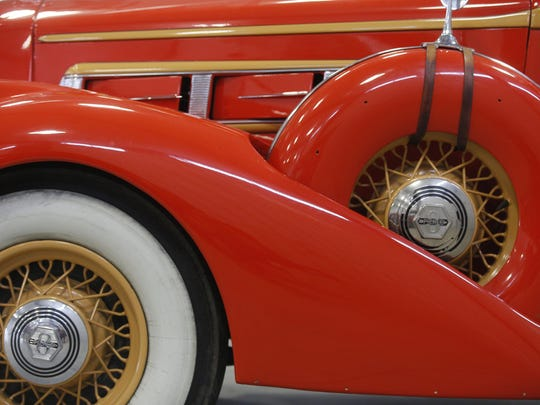 1936 Pierce Arrow Country Club Roadster. Rare car collection of the late Grant J. Quam to be auctioned Sept. 26th in Ames, Iowa, Wednesday, Sept. 16, 2015.