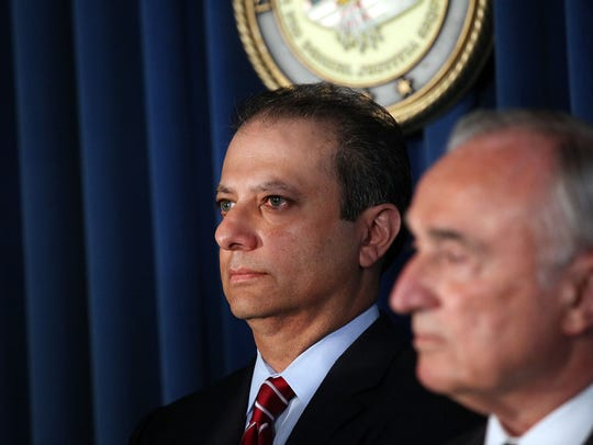 SEPTEMBER 16:  Preet Bharara (left), the United States