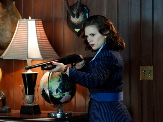 """Peggy Carter (Hayley Atwell) in a scene from the season finale on Marvel's """"Agent Carter."""""""