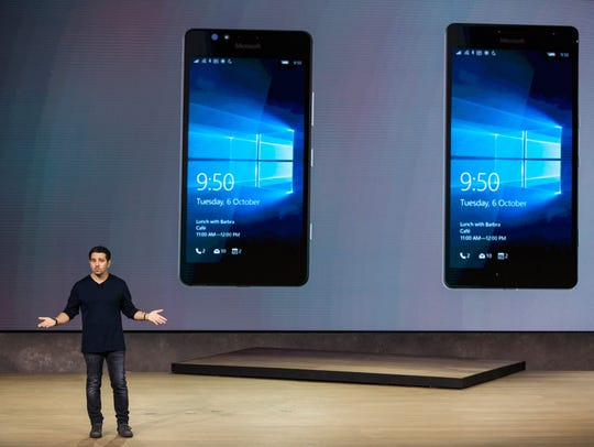 Panos Panay, Microsoft corporate vice president, introduces