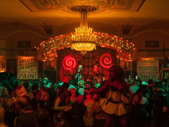 The Ballroom, located on the first floor, is the home of many performances and carnival games during the Theatre Bizarre events.