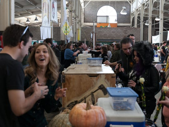 Eastern Market's Shed 5 and its adjacent grounds played host to the 6th annual Detroit Fall Beer Festival on Saturday, October, 25 2014.
