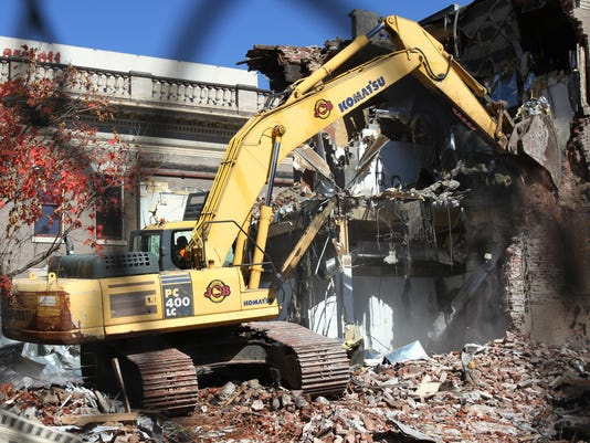 Water Company building demolition