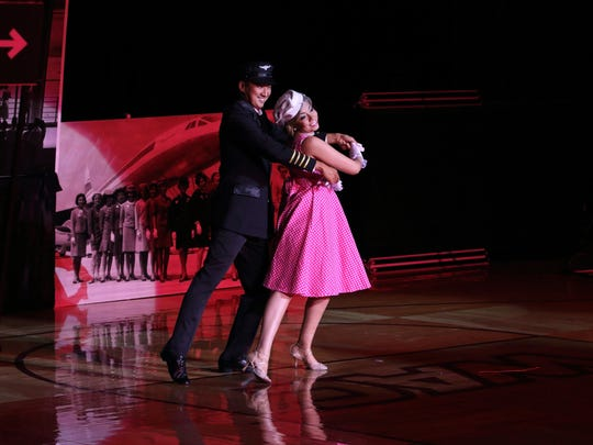 Dancers Joshua Silver and Cindy Moreno finished in a second-place tie in the Looks Whose Dancing competition Sunday.