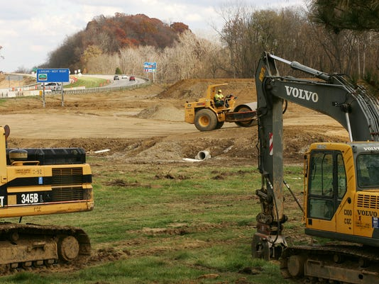 Ohio 16 and Cherry Valley Road interchange construction