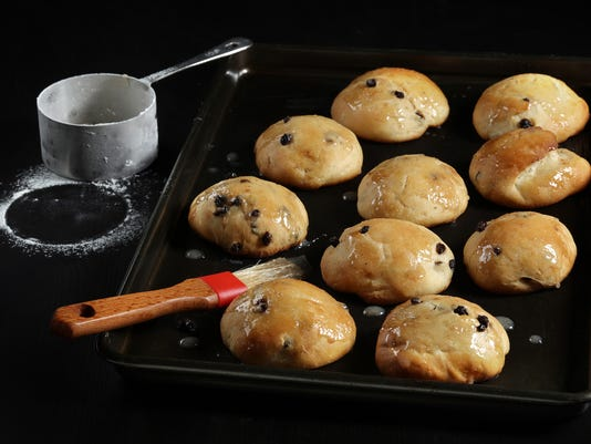Hate raisins? Currants sub in a sweet yeast bun recipe